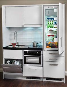 Arredare un cucinotto nel 2020 | Mini cucina, Armadio ...