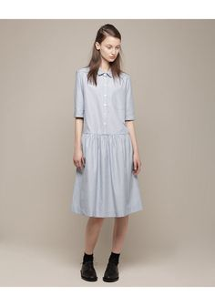 margaret howell drop waist shift dress