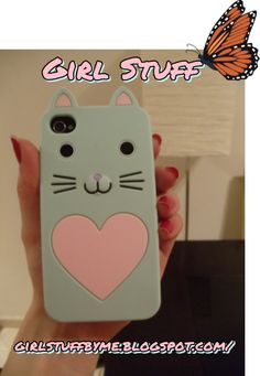 Capa de telemóvel, capa de Iphone, cat http://girlstuffbyme.blogspot.com/2014/03/capa-de-telemovel-fofissima.html