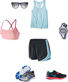 My exercise outfit, created by nichellehoward on Polyvore