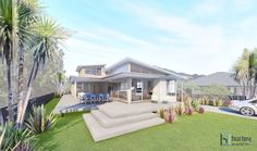 Concept for a new Bach (Beach House) located in Pauanui.  Home Design New Zealand. Auckland Waikato Coromandel