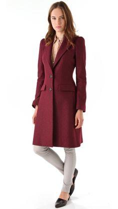 Just Cavalli Heavy Crepe Long Coat $995