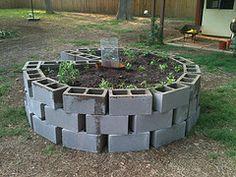 I made a Keyhole Garden