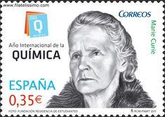 Año Internacional de la Química. Marie Curie    #sellos #filatelia #mariecurie