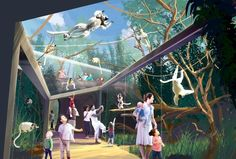 InPark Magazine – St Louis Zoo debuts plans for innovative primate habitat Debut Planning, St Louis Zoo, Busch Gardens Tampa Bay, Zoo Architecture, Architecture Portfolio, Mon Zoo, Zoo Project, Zoo Park, Planet Coaster