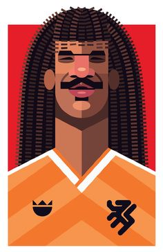 Famous Football Playmaker Illustration - Gullit
