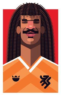 Famous Football Playmaker Illustration - Gullit