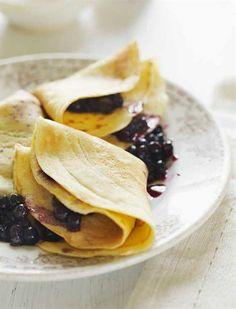 Mormor's Pancakes with Homemade Blueberry Jam
