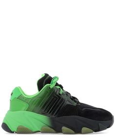 Ash Extasy Sneakers In Black And Fluo Green Ash Shoes, Black Leather Sneakers, World Of Fashion, Luxury Branding, Ash Ash, Black Leather Trainers