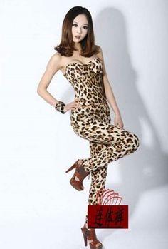 88e8e49d1a8 Fashion women jumpsuit summer leopard sexy one piece jumpsuit for
