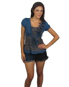 Top w/attached wrap and decorative tie belt-id.24998a