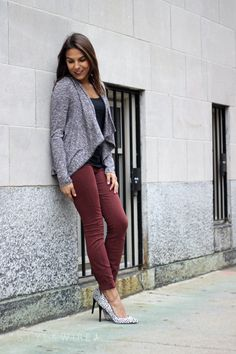 See how I glammed up this casual look from Maurice's