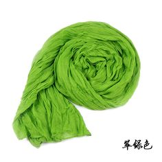 Free shopping Fashion Autumn Winter Solid Color Drape Style Scarf Long Lady's Wrap Shawl Stole ,green ,ling green,purple, red $4.66
