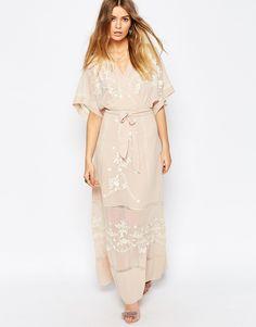 ASOS+PREMIUM+Embroidered+Kimono+Maxi+Dress