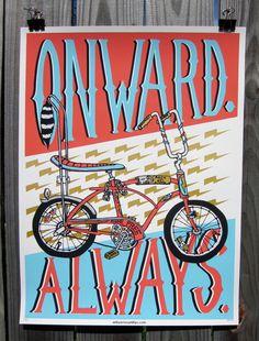 """Onward. Always."" Art Print by Brian Phillips"