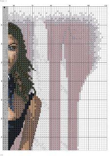 los gráficos del gato: DAMA ELEGANTE Elegant Woman, Cross Stitch Patterns, Libra, Beautiful, Stitching, Graphics, Punto Croce, Girls Girls Girls, Projects