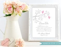 Personalized Baby Girl Baptism Gift Custom Baptism Wall by Suselis