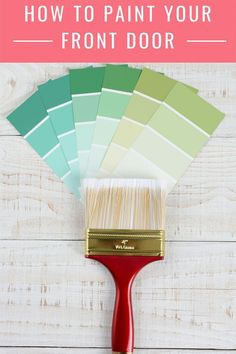 Painting your front door will give you loads of instant curb appeal. Learn how to paint your front door the easy way. Also includes how to strip a metal door if it has a lot of peeling and chipping. Painting Metal Doors, Glass Storm Doors, Paint Brushes And Rollers, Painting Tips, Painting Walls, Painted Front Doors, Front Door Colors, Interior Exterior, Exterior Doors