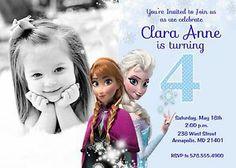 disney's frozen invitations | ... about Disney Frozen Birthday Party Printable Digital Invitation