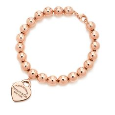 Bead Bracelet Plating  18k rose gold