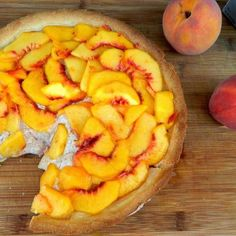 Philly Cream Peach Tart with a Shortbread Crust