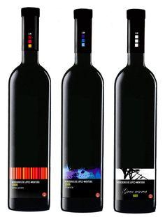 Wine labels by Nuria Herrero, via Behance