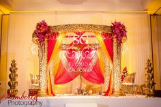 Suhaag Garden, Indian wedding decorator, Florida California Atlanta, mandap, gold pink yellow mandap