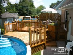 1000 images about deck ideas on pinterest patio patio for Plan pour deck de piscine