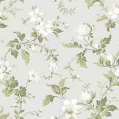 "Boråstapeter  ""Karlslund Blomslinga"" Accent Wallpaper, Home Wallpaper, Fabric Wallpaper, Flower Wallpaper, Victorian Wallpaper, Antique Wallpaper, Metallic Wallpaper, Floral Pattern Wallpaper, Mural Art"