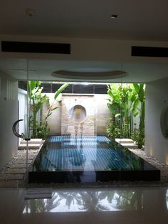 Indoor - outdoor private pool and jacuzzi @theracha