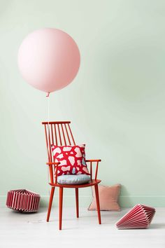 The palette doesn't sit quietly in the background; rather it has bright pops of cherry red, purple and yellow, softened by pastels and fresh neutrals. Experience offers a playful palette to create a space to envelope you.