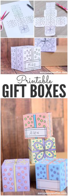 Grab These Lovely Printable Gift Boxes