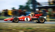 Clay Regazzoni in the Ferrari 312 b, Watkins Glen 1970