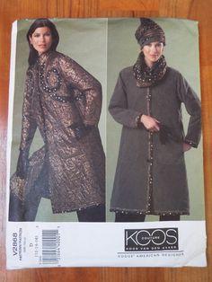 Vogue 2868 Koos Vogue Coat Sewing Pattern 12 14 16 by FoxVintageUk