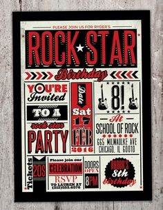 This invitation is an awesome way to welcome your friends to come and party like a rock star! Scroll down to see how to order this invitation as a