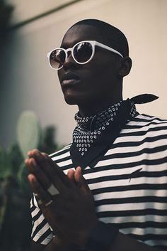 stripes & bandana - portrait by SAINT LUCY Represents photographer Cody Bratt