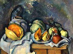NATURE MORTE AUX FRUITS ET POT DE GINGEMBRE - Paul Cezanne