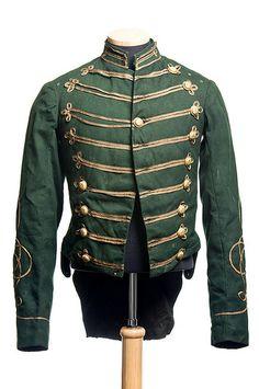 Charleston Light Dragoons uniform, c. 1886. Worn by Capt. Samuel Gaillard Stoney (Charleston, 1853-1926). Charleston Museum.