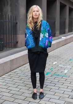 Niina - Hel Looks - Street Style from Helsinki.    This cardi is fkn life!!