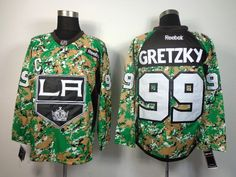 f89b97359 Men s Los Angeles Kings 99  Wayne Gretzky  Camo Veterans Day Practice  Stitched NHL Jersey