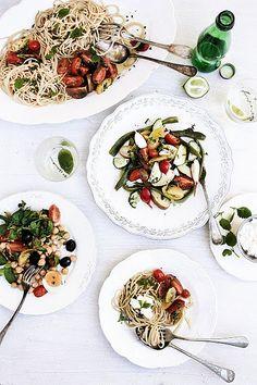 Simple, vegetarian salads
