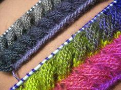 Free Knitting Pattern for Easy Treetops Baby Blanket - Stri Knitting Stitches, Knitting Socks, Free Knitting, Knitting Patterns, Crochet Patterns, Knitting Ideas, Crochet Wool, Crochet Poncho, Filet Crochet
