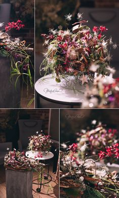 New Year floral art