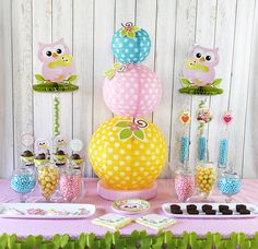 Cute Owl Themed Baby Shower