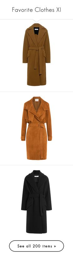 """""""Favorite Clothes XI"""" by bianca-cazacu ❤ liked on Polyvore featuring outerwear, coats, long overcoat, brown long coat, brown overcoat, long wrap coat, brown coat, jackets, coats & jackets and beige"""