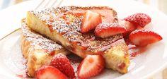 Strawberry-Stuffed French Toast (Sandra Lee) #sandralee #strawberry #frenchtoast