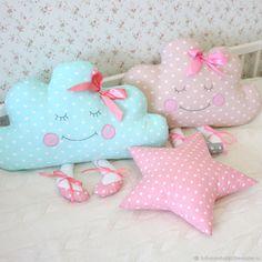 Детская ручной работы. Заказать Комплект подушек в детскую. Tirlika_textile. Ярмарка Мастеров. Комбинированный, хлопок 100%, бязь
