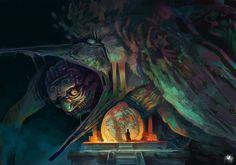 knightofleo: Clément Galtierdivine ceremonyapproach a godbakeneko meet the giant owl temple nest nagahuitzilopochtli Age Of Mythology, Aztec Warrior, Mexica, Traditional Artwork, Inca, Matte Painting, Writing Inspiration, Deviantart, Dark Art