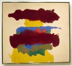 Weather Change, 1963 by Helen Frankenthaler. Helen Frankenthaler, Post Painterly Abstraction, Abstract Expressionism, Abstract Art, Abstract Paintings, Oil Paintings, Painting Prints, American Artists, Artist Art