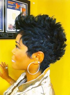 The Mohawk could be a top favorite hairstyle for men and ladies. we hope you found the best Mohawk Hairstyles for Black Women With Natural Hair. Mohawk Hairstyles, My Hairstyle, Curly Mohawk, Hairstyles Pictures, Latest Hairstyles, Short Sassy Hair, Short Hair Cuts, Love Hair, Great Hair